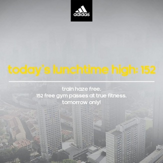 #Sg Haze at Marketing's best