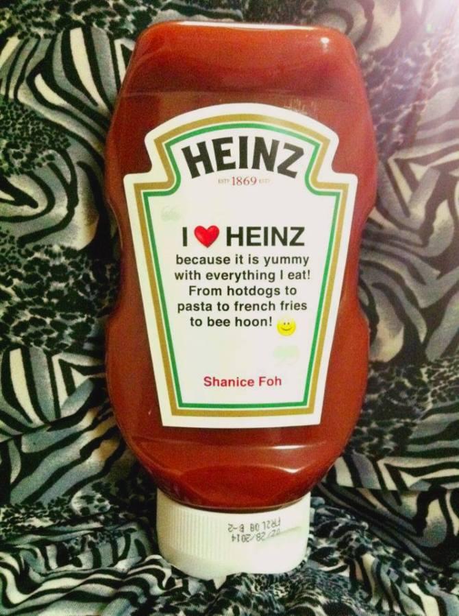 I *heart* Heinz Singapore.